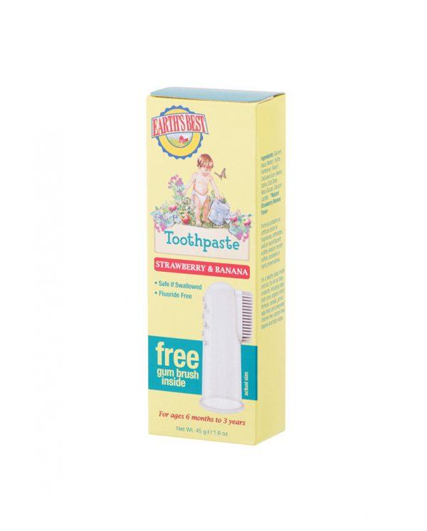 Zubná pasta Earth Best (EB) pre deti od 6 mesiacov so zubnou kefkou - 45 g