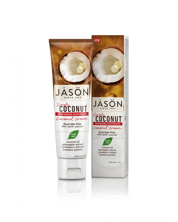 Zubná pasta Jason SIMPLY COCONUT bieliaca - 119 g